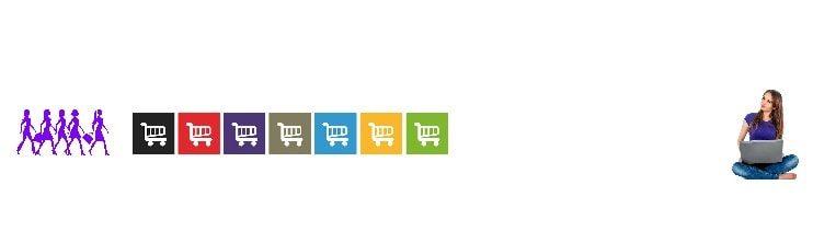 Shopping on line  les courses en ligne