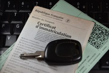 "French car registration certificate or ""gray card"" (""carte grise"" in french)"